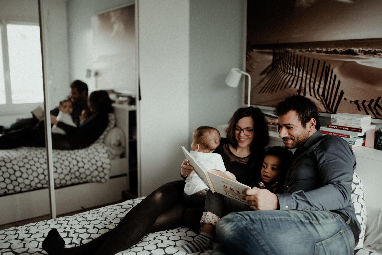 Reportage photo famille dans sa chambre seine et marne