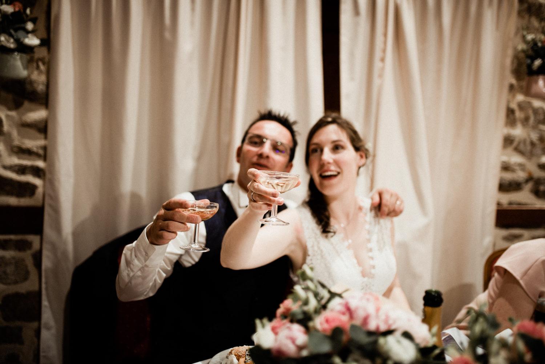 Reportage du repas d'un mariage en Bretagne