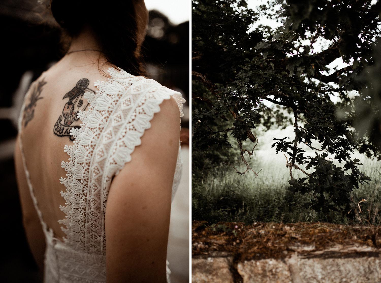 Mariée tatouée, reportage de mariage en Bretagne