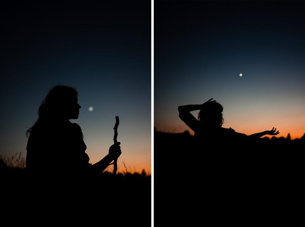 Portraits sauvages nocturne Hélène Halgand Photographe
